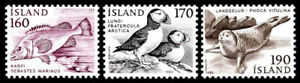 Iceland 1980 Animals, Red Fish, Bird - Puffin & Common Seal, MNH / UNM