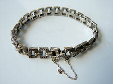 Art Deco Sterling Silver & Marcasite Bracelet