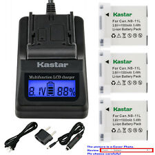 Kastar Battery LCD Fast Charger for Canon NB-11L Canon IXUS 265 HS IXUS 275 HS