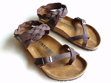 TATAMI BIRKENSTOCK braided oiled Leather Sandal YARA Habana-Brown EU36 US5.5 UK3