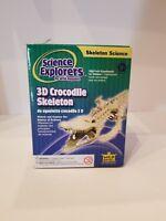 Wild Republic Crocodile Skeleton 3D New Science Explorers Model 86021