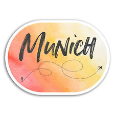 2 x 10cm Munich Vinyl Stickers - Germany Travel Sticker Luggage Laptop #17907