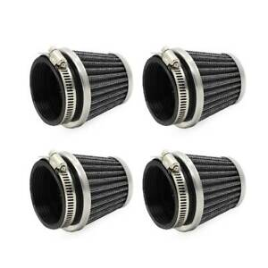 4Pcs Universal 52mm Air Intake Tapered Air Filters Cleaner For Motorcycle Racer
