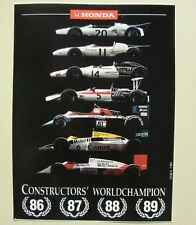 auto-collant HONDA Constructor Worldchampion 1986 1987 1988 1989 sticker