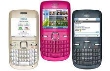 Nokia C3-00 Desbloqueado Teclado Qwerty Wifi Cámara del Teléfono Móvil/Pack Completo