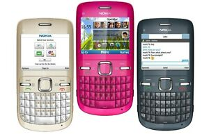 Nokia C3-00 Unlocked Qwerty Keypad Wifi Camera Mobile Phone / FULL PACK
