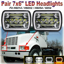 For International Harvester 4700 4800 4900 7x6'' Sealed LED Headlights Halo DRL