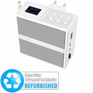 USB Lautsprecher: Steckdosenradio mit DAB+/FM, Bluetooth, USB, Versandrückläufer