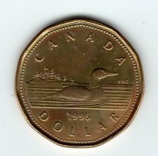 1995 Canada $1 Coin Loonie - Obverse: Queen Elizabeth II Uncirculated from Roll