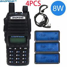 4X Baofeng UV-82 8W Two Way Radio Walkie Talkie Dual Band VHF UHF Portable Radio