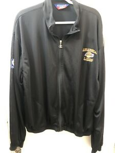 XL Vintage Mens Los Angeles Lakers Champion NBA Zip Up Jersey Workout Jacket