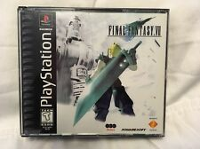 Final Fantasy VII (Sony PlayStation 1,1997) rare black label edition      (@6c)