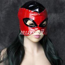 Slave Harness Leather Bondage Hood Eye Mask Head gear Fetish Sexy Face Mask Toy