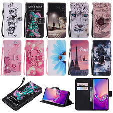 Flip Stand Card Leather Wallet + TPU Case Cover For Samsung A7 A9 S10 S10E Note9