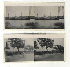 Rochefort Tour de France 2 Photos amateur stéréo Vintage argentique 1935