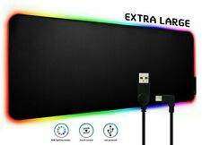 Gaming Mouse Pad RGB LED Light Non-Slip Computer Keyboard Mouse Mat Multi-color