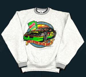 VTG 1993 Kyle Petty Mello Yello Gray Ringer Pullover Sweatshirt USA Made 90s L