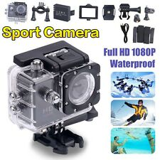 12mp Mini Waterproof 1080p FHD DV Video Helmet DVR Cam Sport Action Camera UK