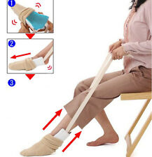 2 x Sock Stocking Aid Puller Assit Disabilty Aid Helper, Terry Cloth Dressing AU