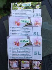 *NEW, 3 pack* 2 Orchid & 1Flower Potting Mix Peat-Free Coconut Coco Coir Compost
