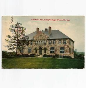 Antique 1910 Postcard View of Chemical Hall Colby College Waterville Maine