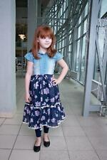 Freizeit Prinzessin Jeanskleid Kleid Mädchen festlich Sommerkleid Gr. 92-128