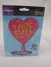 "17 "" LOVE HEART SHAPED FOIL BALLOON ENGAGEMENT BIRTHDAY WEDDING VALENTINE"