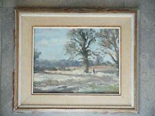John Reginald Burman Oak Tree in Spring Landscape. Oil. Listed Artist.