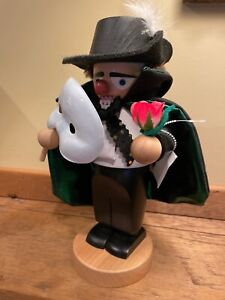 "STEINBACH CHUBBY NUTCRACKER PHANTOM of the OPERA 10.5""  NEW GERMANY"