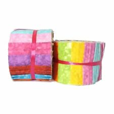 """Top Textures Jelly Roll From Fabric Palette - 20 x 2.5"""" Textured Fabric Strips"""