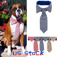 Dog Tie Adjustable Stripes Neckties for Large Dog Pet Grooming Bow Ties Necktie