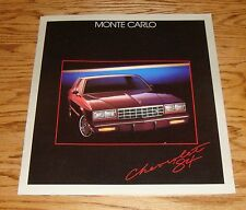 Original 1984 Chevrolet Monte Carlo Sales Brochure 84 Chevy