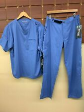 NEW Men's Grey's Anatomy Ceil Blue Scrubs Set With Large Top & Large Pants NWT