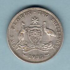 Australia.  1935 Florin..  Part Lustre..  gVF/EF