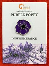 Purple poppy Original charity badge 100% goes to Official eBay animal charity