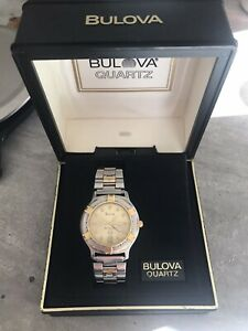 Bulova Marine Star 100M Two-Tone Gold-Plated/Stainless Steel Quartz Watch wBox