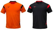 Mizuno Men GAME S/S T-Shirts Jersey Training Black Orange Top Shirt P2MA8K0109