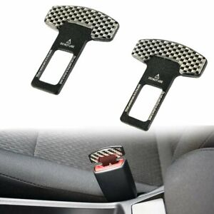 2x Universal Safety Seat Belt Clip Buckle Locking Alarm Stopper Strap Clamp