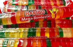 Haribo Mega Roulette Gummis 4 COUNT Popular German Candy FREE SHIPPING
