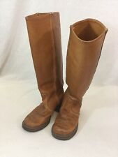 Women's Vintage BORT CARLETON Brown Leather Western Riding Boho Boots Sz 6