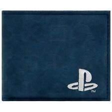 Nouveau Officiel Playstation en relief symboles BLEU pour pièces de monnaie & carte Bi-Fold Portefeuille