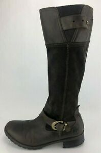 Timberland Earthkeepers Boots Bethel Riding Brown Zip Knee High Shoes Womens 10M