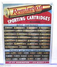 REMINGTON SPORTING CARTRIDGES, METAL SIGN (APO and FPO OK)