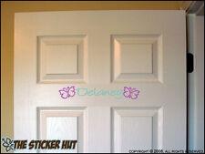 Butterfly YOUR NAME Door Vinyl Wall Decals Stickers 391