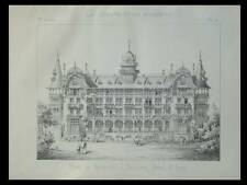MEUDON BELLEVUE, HOTEL BELVEDERE - PLANCHE- CONSTRUCTION MODERNE n°1 1893-RIVES