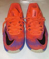NIKE Air Max Infuriate GS Kid's Purple Orange Basketball Shoes Sz 7Y #869991-800