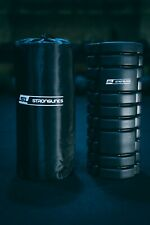 Black Grid Foam Roller for Physio, Rehab & Fitness with Carry Bag