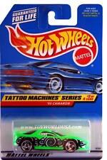 1998 Hot Wheels #686 Tattoo Machine Series #2 '93 Camaro rzr (blue car card)