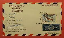 1955 FRANCE PILOT SIGNED FLOWN MORANE SAULNIER MS-760 JET AIRCRAFT FLIGHT