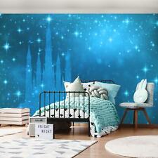 FOTOTAPETE Tapete XXL Prinzessin blau Schloss Kinderzimmer Für Mädchen 24